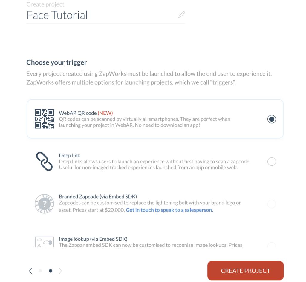 zappar face tracking