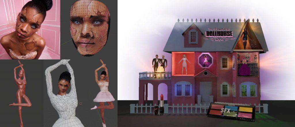 NYX Halloween Dollhouse filter by AR creator Florian Sabatier
